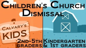Children's Church Dismissal K-5